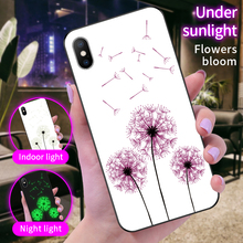 Color-Changing Luminous Pattern Glass Phone Case For iPhone XS MAX 6 7 8 6s Plus10X XR Samsung Galaxy S8 S9 S10 Plus Note 8 9 multifunction woven pattern zipper wallet case for samsung note 10 8 9 s8 s9 s10 plus s10e for iphone xs max xr x 6 6s 7 8 plus