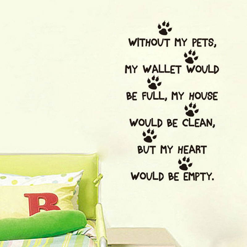Aliexpress Buy Pets Quote Wall Sticker Home Decor