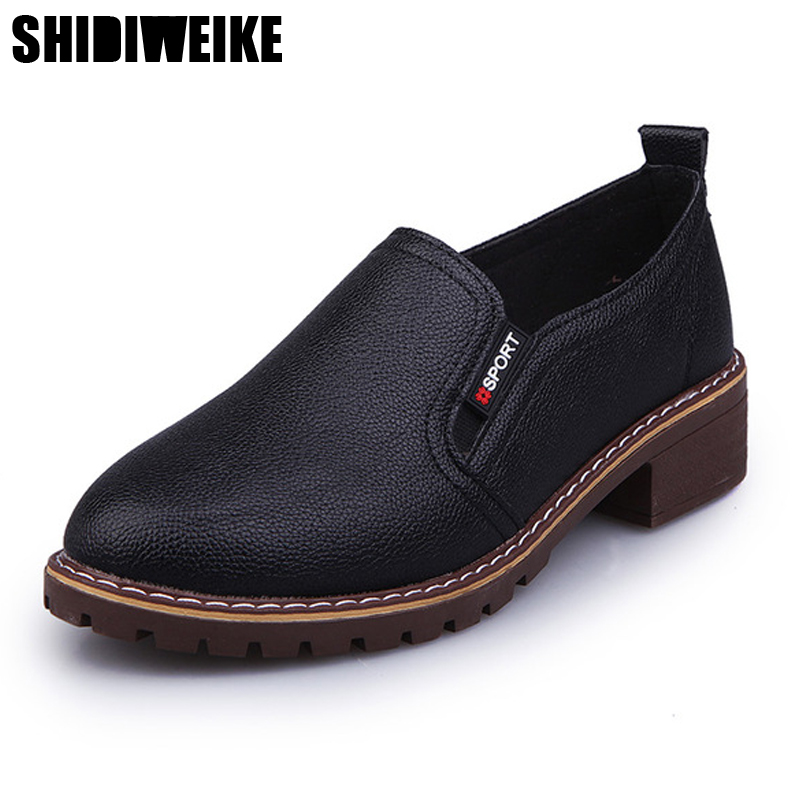 Shidiweike 2017 Лоферы для женщин Для женщин Женские туфли-лодочки модная обувь без шнуровки на плоской подошве Обувь для женщины Демисезонный Для женщин l356