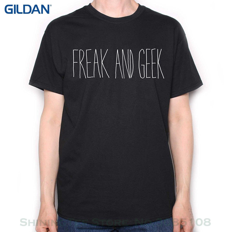 Men's High Quality Custom Printed Tops Hipster Tees Old Skool Hooligans Freak And Geek T Shirt