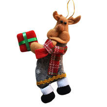 4 Pcs/Lot Santa Dolls Christmas Tree Hanging Ornaments