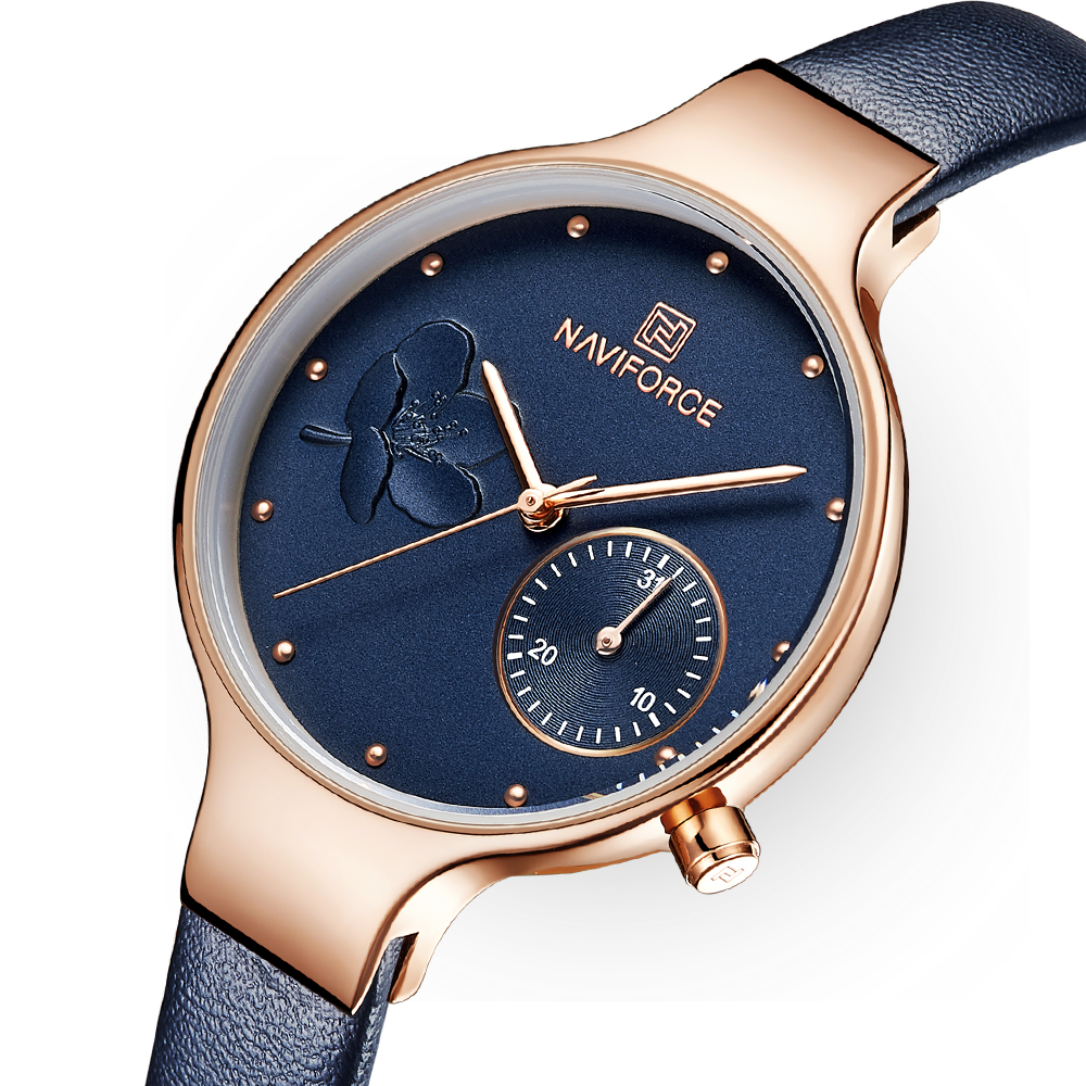Femmes Montres De Luxe Marque De Mode Quartz Bleu En Cuir Dames Strass Montre Robe Étanche Simple Horloge relogio feminino