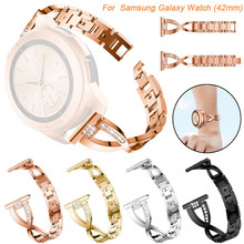 Replacement Metal Crystal Watch Strap Wrist Band For Samsung Galaxy Watch (42mm) wearable devices relogios fitness tracker 25