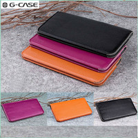 GCASE Handmade Universal Luxury Genuine Leather Wallet Case for iPhone 5 5s Se Phone Purse Pouch for iPhone 6 6s Plus 7 7 Plus