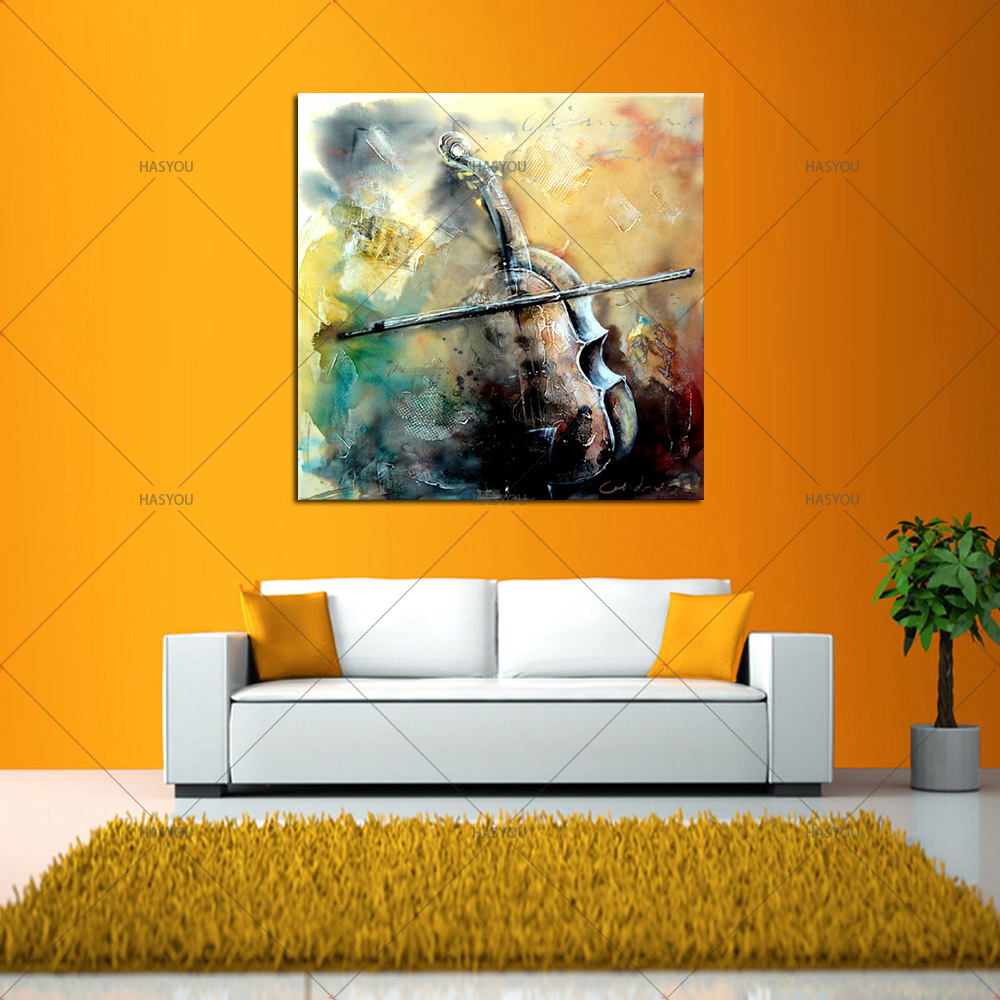 modern musical instruments handmade contemporary abstract oil ...