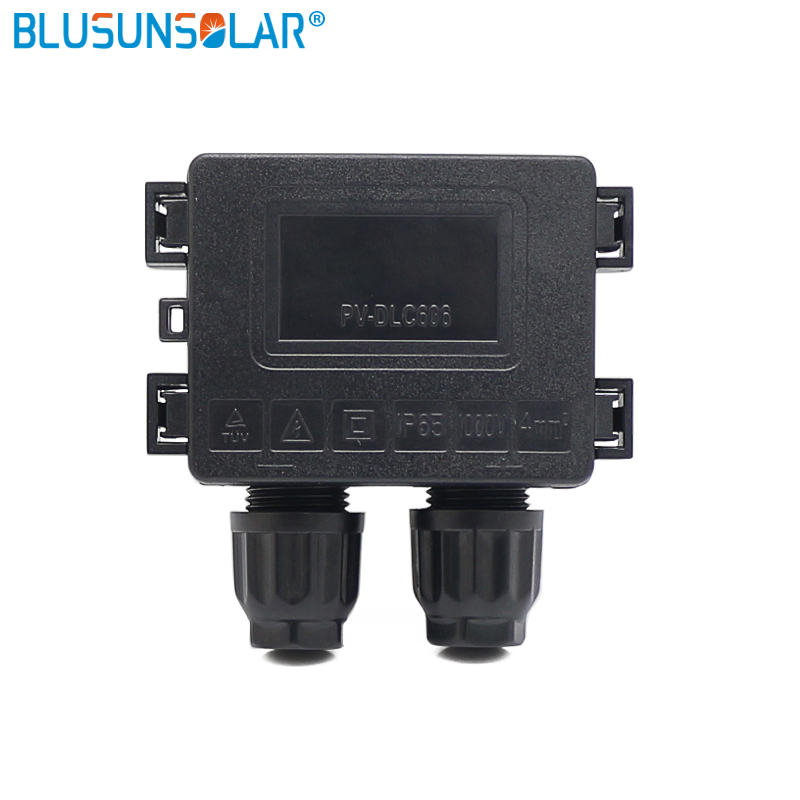 Free Shipping IP65 2 Way Junction Box For Waterproof Pieces Junction Solar 50W-100W Box Solar Connecting