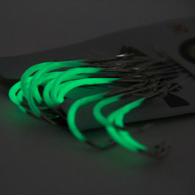 One Pack Luminous Fishing Barb Hooks Set Fishing Hooks With Line Card Set New free shipping