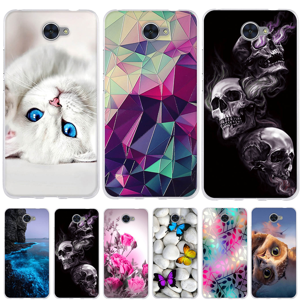 For Huawei Y7 Case Cover Coque For Huawei Y7 Prime 2018 Cover Silicone 3d Cartoon Funda For Huawei Y7 2018 Phone Case Capa Coque