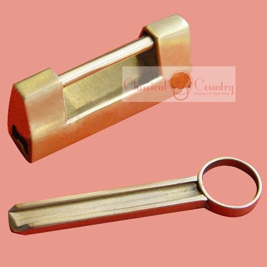 5cm 2 Antique Brass Lock key Chinese Furniture copper