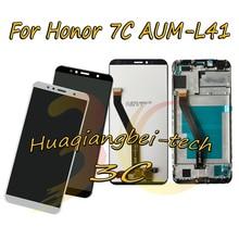 5.7 חדש עבור Huawei Honor 7C AUM L41 מלא LCD תצוגה + מסך מגע Digitizer עצרת + מסגרת כיסוי 100% נבדק