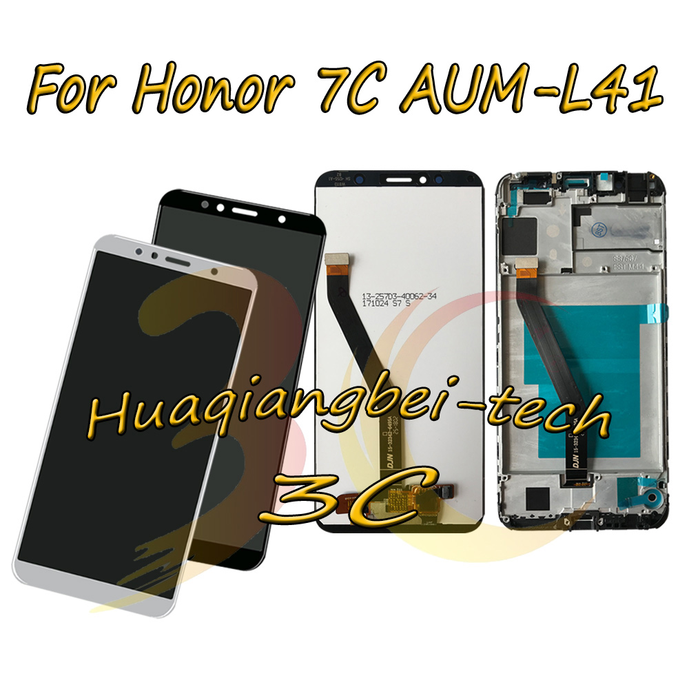 5.7 Nuovo Per Huawei Honor 7C AUM-L41 DIsplay LCD Full + Touch Screen Digitizer Assembly + Telaio di Copertura 100% testato5.7 Nuovo Per Huawei Honor 7C AUM-L41 DIsplay LCD Full + Touch Screen Digitizer Assembly + Telaio di Copertura 100% testato