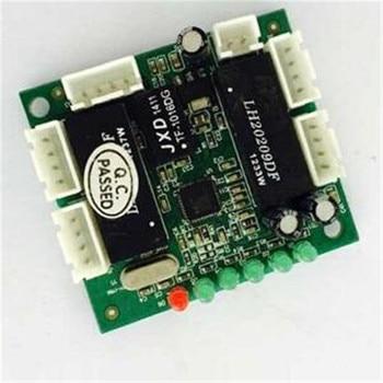 mini design 5 Port 10/100M 4Pin header Auto-Negotiation connector network ethernet switch hub PCBA Module