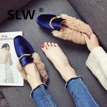 Rome closed toe High Strange Style mules with fur PU funny slipper women Genuine Leather Slides loafer Rubber gladiator Super(China)