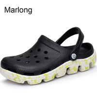 Marlong Summer New Candy Color Large Size Thick Sandals Woman Croc Anti Skid Hole Jelly Shoes Flat Garden Beach Sandales Femmes