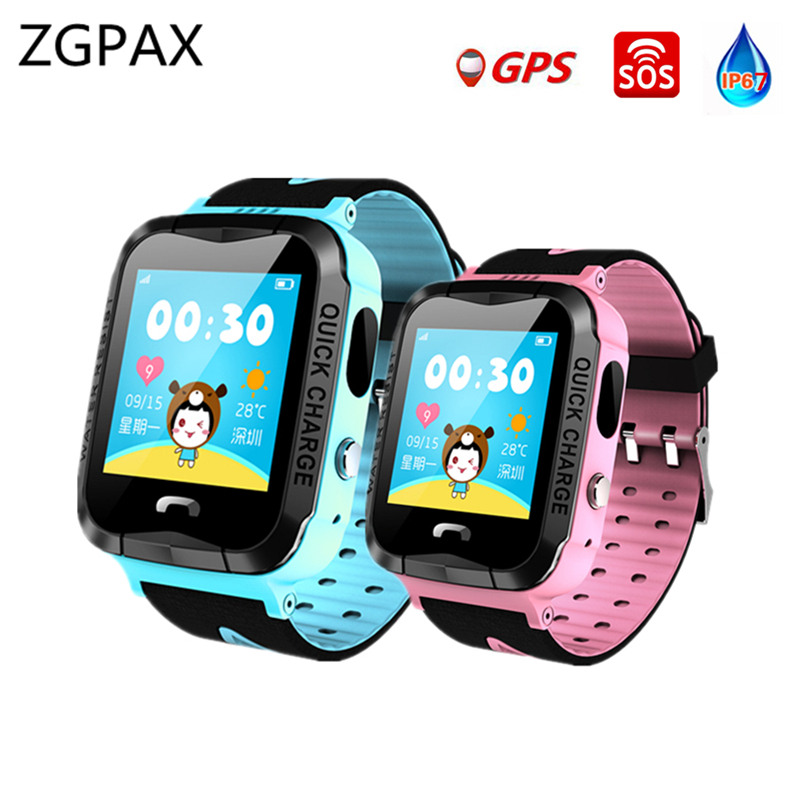 GPS Montre Smart Watch VG6 Smart bébé montre IP68 étanche avec caméra SOS Call Lieu LED lampe de poche Carte SIM smartwatch PK Q90 Q50