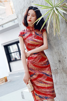 Summer short sleeve Chinese lady party dress modern Qipao