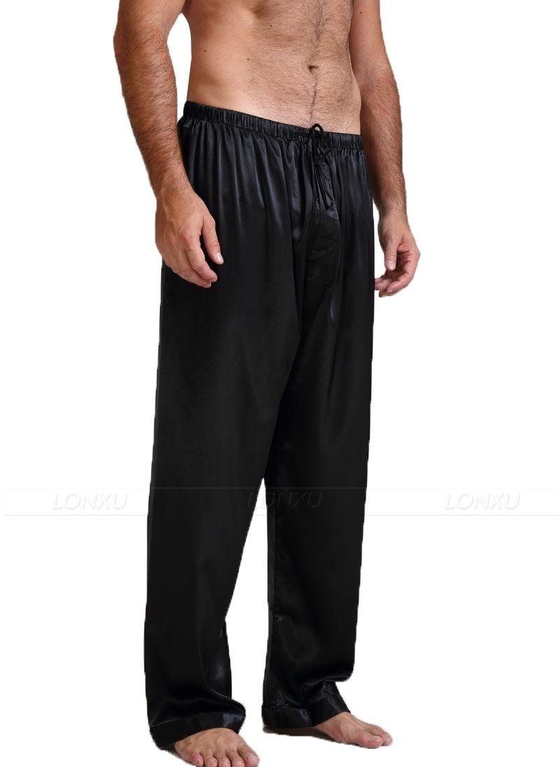 Mens 100% Silk (19Momme) Pajamas Pyjamas Pants Lounge Pants  Sleep Bottoms Free p&p S M L XL