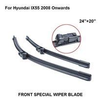 Accessaries carro Auto Brisas Lâmina Para Hyundai IX55 2008 Em Diante 24 ''+ 20'' Windshield Borracha Natural