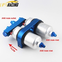 High QUALITY External TWINS Fuel Pump 0580 254 044 AN6 male fitting 2 IN 1 dual pump bracket FP044P