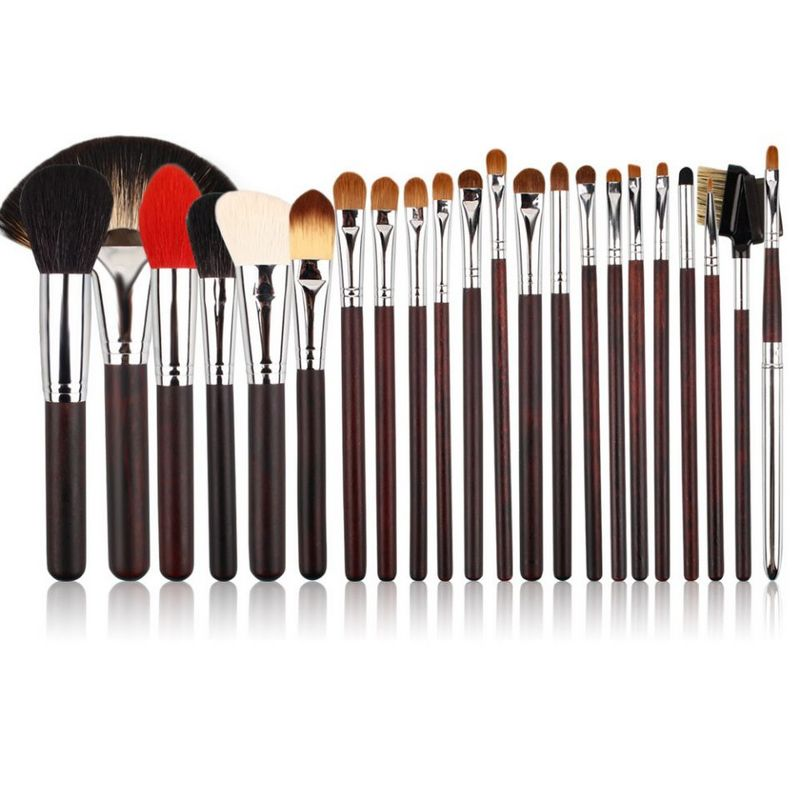 цена на 22pcs cosmetic brushes High-end animal hair makeup brush set kolinsky hair copper collar makeup tools
