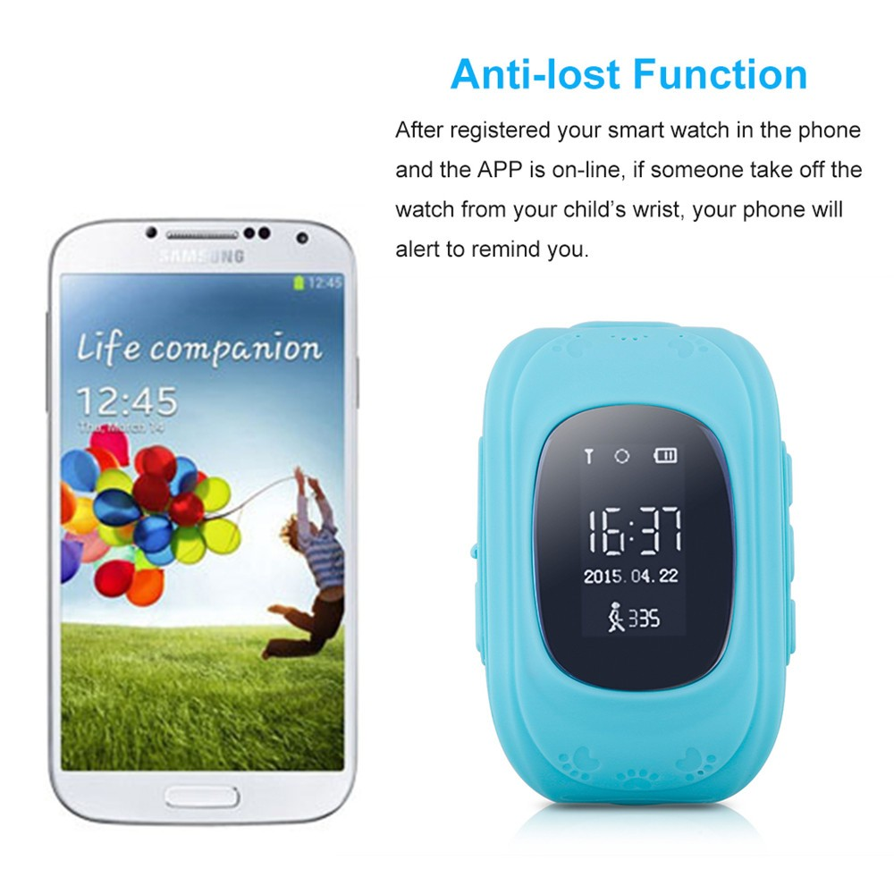2016 Smart Kid Safe GPS Watch Wristwatch SOS Call Location Finder Locator Tracker for Kid Child Anti Lost Monitor Baby Gift Q5034
