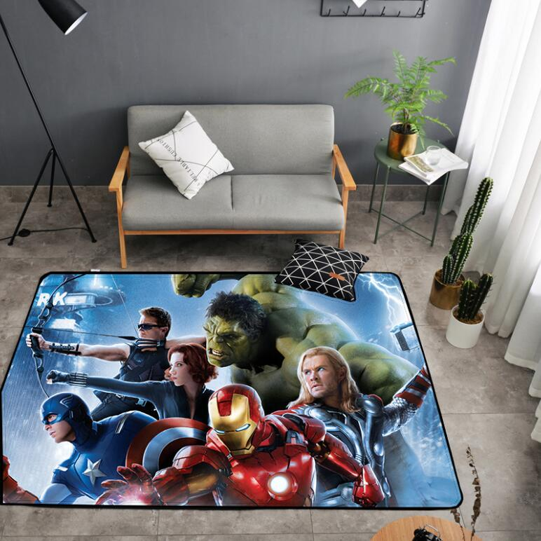 American Carpet Batman Superman Printed Soft Carpets Anti-slip Rugs Superhero Computer Chair Mat Floor Mat For Home Kids Room