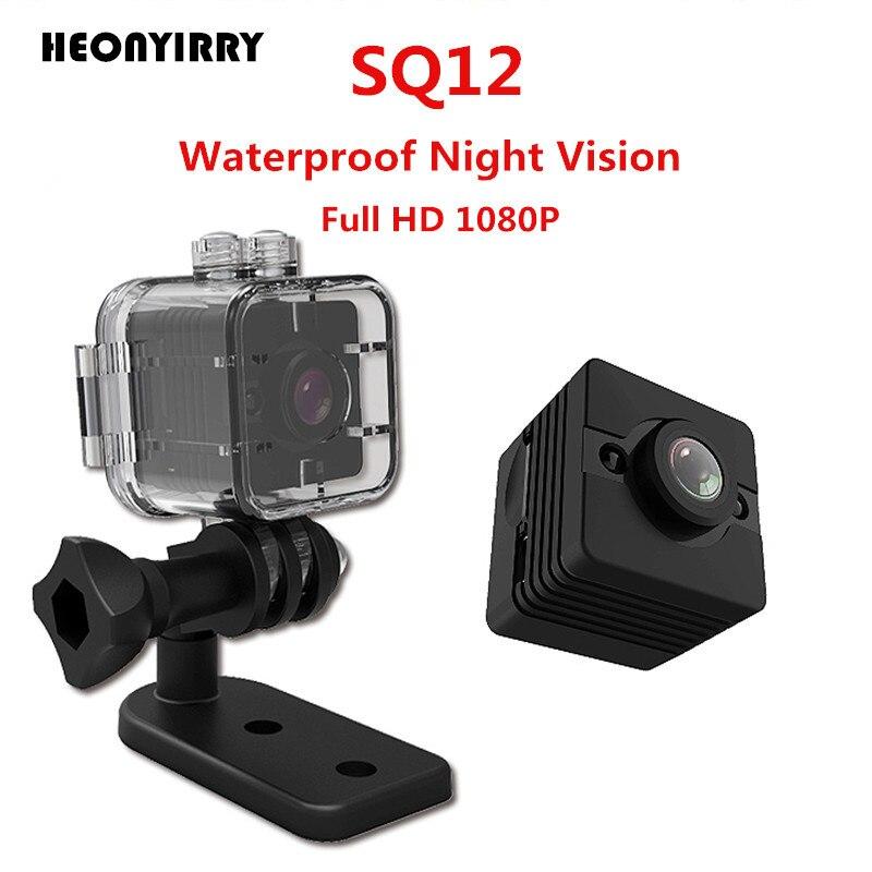 2018 Date SQ12 Mini Caméra HD 1080 p Mini Caméscope de Vision Nocturne Sport En Plein Air DV Voix Enregistreur Vidéo D'action Étanche caméra