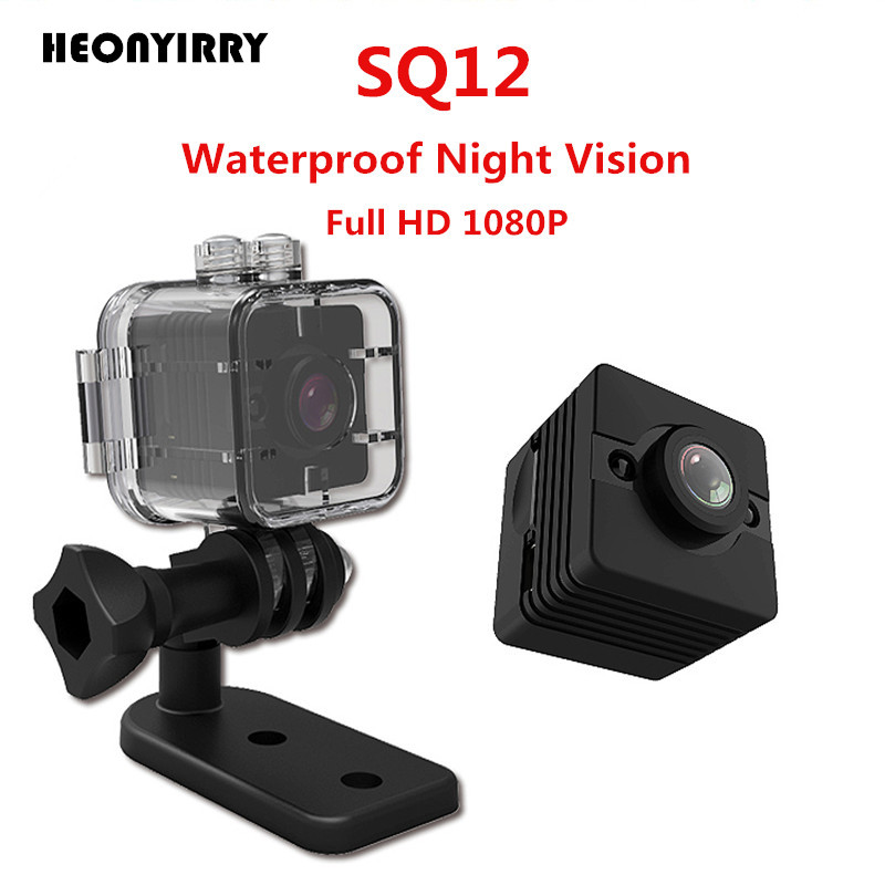 цена на 2018 Newest SQ12 Mini Camera HD 1080P Mini Camcorder Night Vision Sport Outdoor DV Voice Video Recorder Action Waterproof Camera