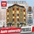 Creadores lepin 15016 7968 unids moc creativo genuino serie el apple university conjunto de bloques de construcción ladrillos juguetes educativos