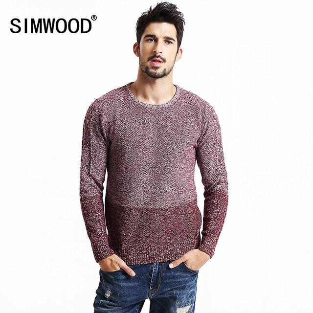 SIMWODD марка одежды 2016 новая осень-зима Бабушка-шик свитер моды для мужчин Рождество пуловеры 100% хлопок MY2060