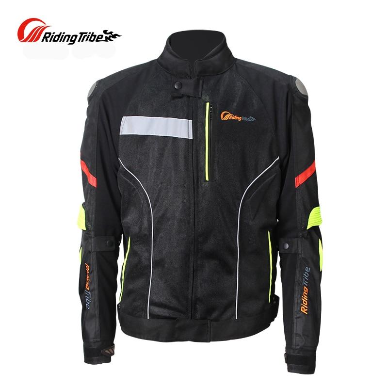 Motorcycle Riding Titanium Shoulder Protective Jackets Drop Mesh Racing Motorbike Jackets 7 Pcs Gear protectors Clothes