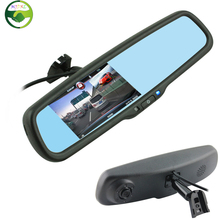 HD 4.3″ Car DVR Rearview Mirror Monitor with Original Bracket For Toyota Nissan, Motion Detection / G-sensor / SD/MMC Card