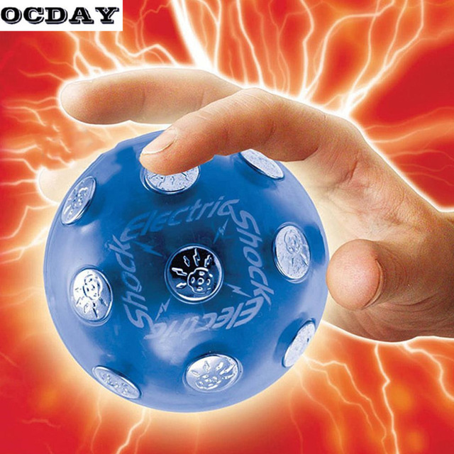 OCDAY Funny Electric Shock Shocking Glowing Ball Game X'mas Party Entertainment Gift Toys for Children Birthday Gift