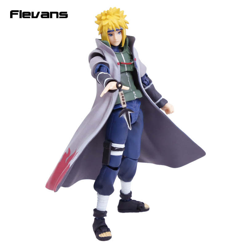 SHFiguarts Naruto Shippuden Namikaze Minato PVC Action Figure Collectible Model Toy 15cm naruto shippuden uchiha itachi pvc action figure collectible model toy doll 27cm kt1322