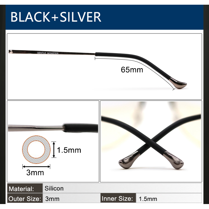 Generous 4 Pairs Silicone Anti Slip Eyeglasses Sun Glasses Leg Sleeves Accessories Square Hole Apparel Accessories Men's Glasses