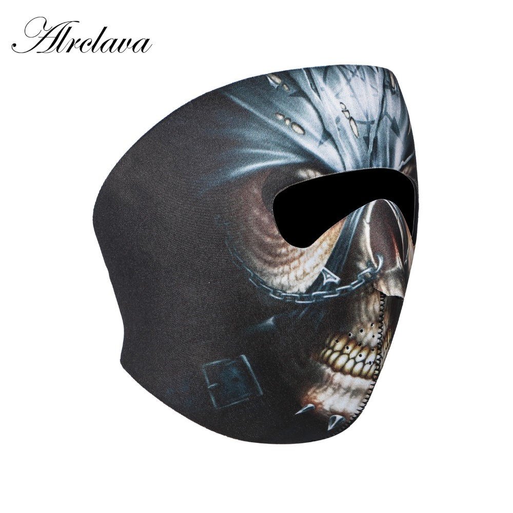 HELL HOUND NEOPRENE MOTORCYCLE BIKER SNOW SKIING BOARDING MOBILE FACE MASK