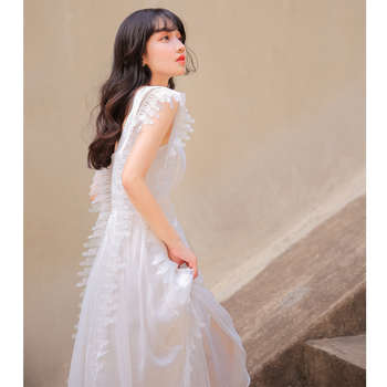 Túnica De Encaje Blanco   YOSIM Verano Maxi Vestido 2019 Vestido Largo Para Mujer Gasa Vestido Blanco Túnica Firay Noche Fiesta Encaje Mujer Sin Mangas