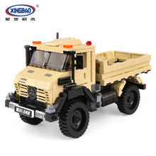 New XingBao 03026 490Pcs Car Series The Super Truck Model Set Building Blocks Bricks Toys Educational Funny Kids Gifts Mode lepin 02102 city series the mining experts site set with dump truck 60188 building blocks bricks funny toys model kids gifts
