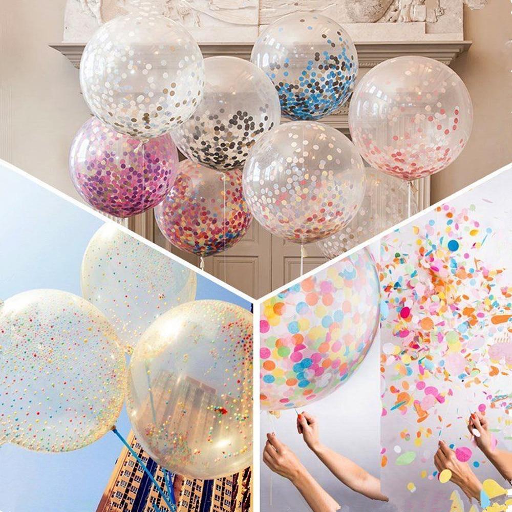 5pcs set party colorful confetti latex sequin latex for Accessoires de decoration