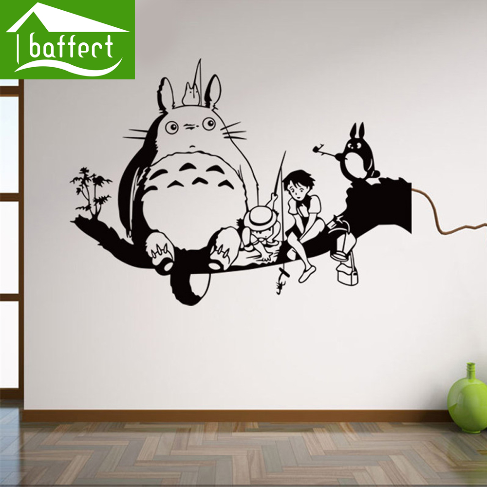 My totoro hot sale plane wall stickers for room decoration for Deco mural stickers