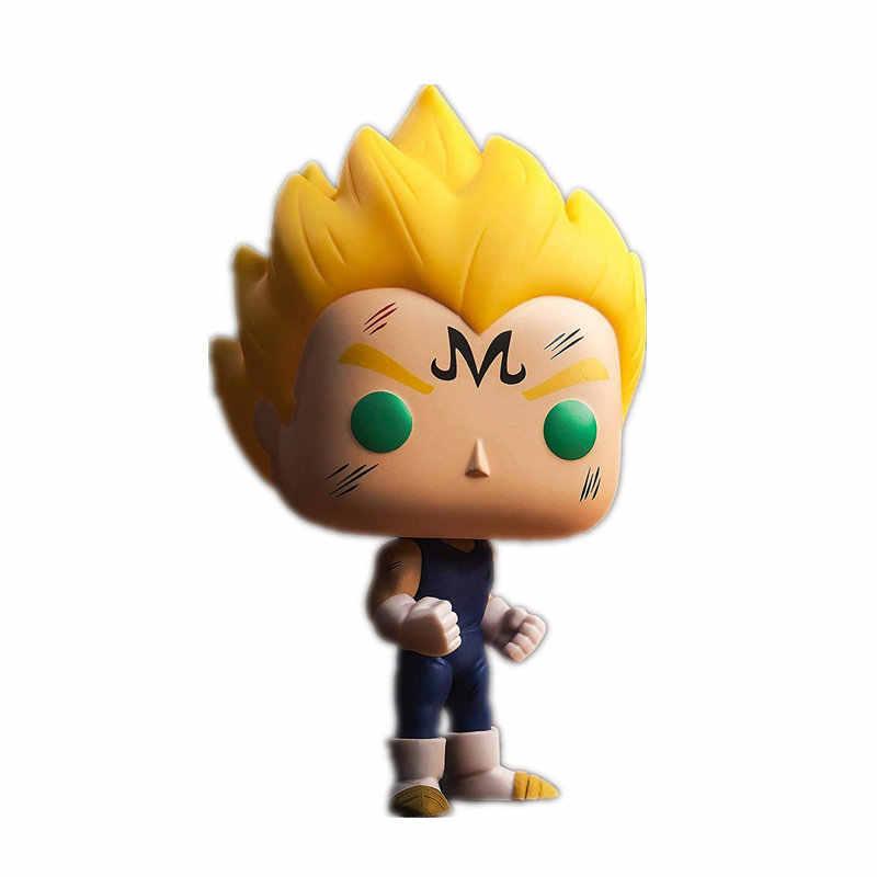 NOVA 10 centímetros Animação Dragon Ball Z Majin Vegeta #445 edição figura de ação Bobble Head Q Edição grande não caixa para Decoração de Carro
