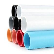 Couleur unie mat PVC plastique panneau de fond étanche Anti rides INS photographie toile de fond Photo Studio accessoires de tir