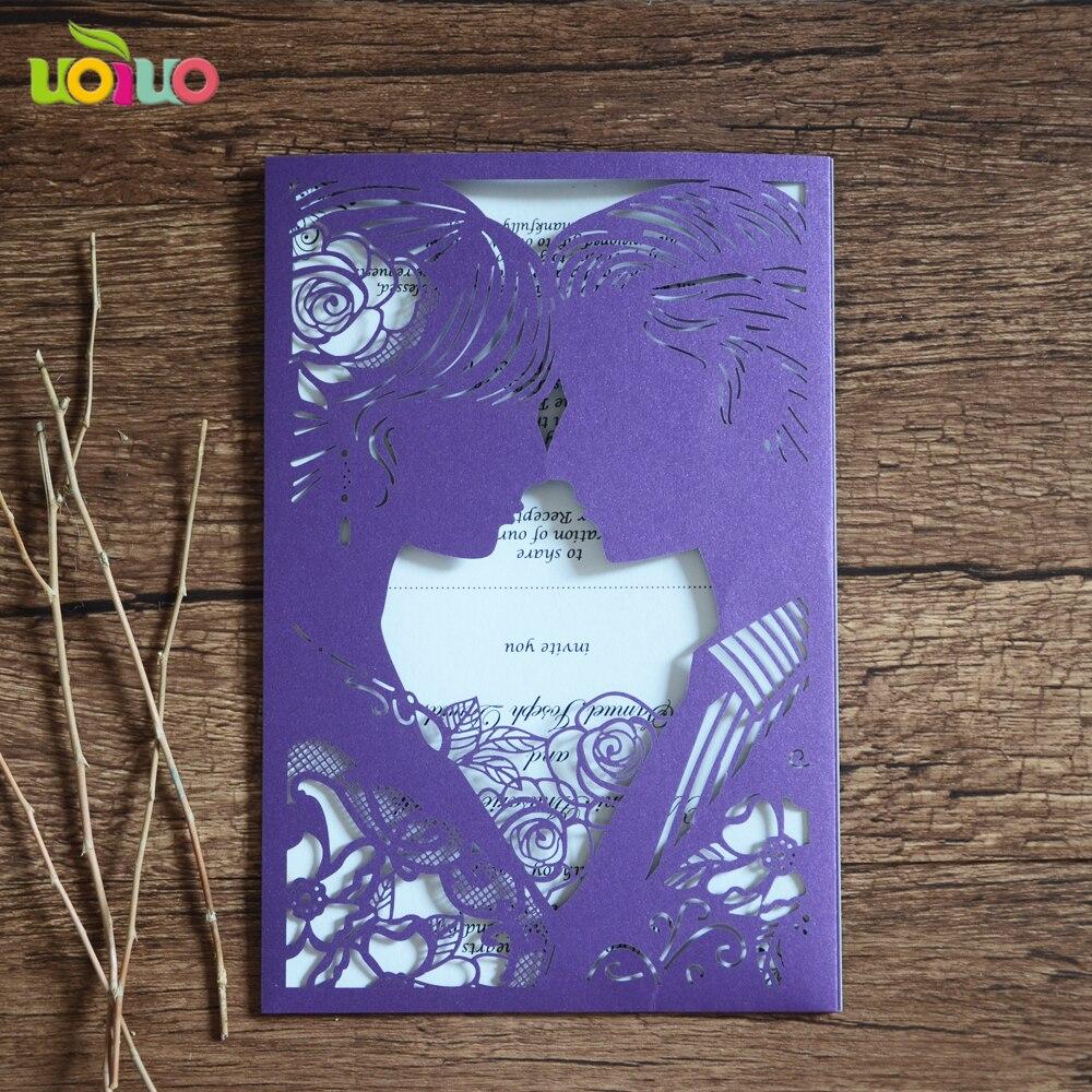 Lace Wedding Invitation Cards Envelope 50setslot Laser Cut Paper