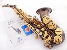 2016 neue schrillen Schwarz Nickel Gold Bb curved Sopran Saxophon B musikinstrument saxophon saxophon Flache Erwachsene Kinder