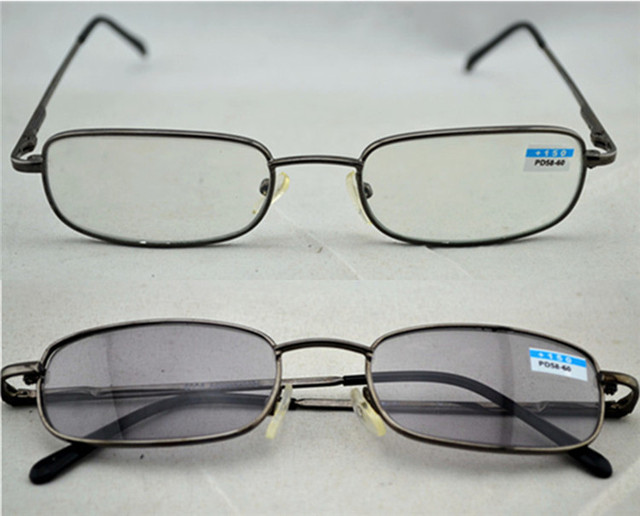 81e39c836b Retro del Metal clásico marco delgado lentes fotosensibles Sun vidrios de  lectura mujeres hombres gafas lectores