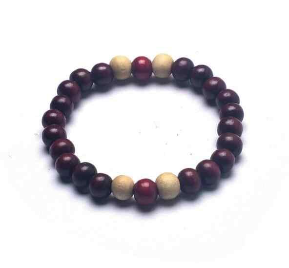 Specjalna hurtownia w stylu etnicznym serii nowy kolor Drewniany koralik stretch bransoletka okrążenie małe koraliki biżuteria