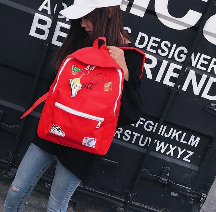 Girl Canvas Cactus Shoes Backpack Women Shoulder Bag #2018 Fashion Woman Travel Bag Rucksack Christmas Gift