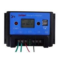 20A LCD de Charge Solaire Contrôleur Auto PWM De Charge USB Sortie chargeur de Batterie Solaire Panneau Solaire Protection Contre Les Surcharges 20A 12 V/24 V