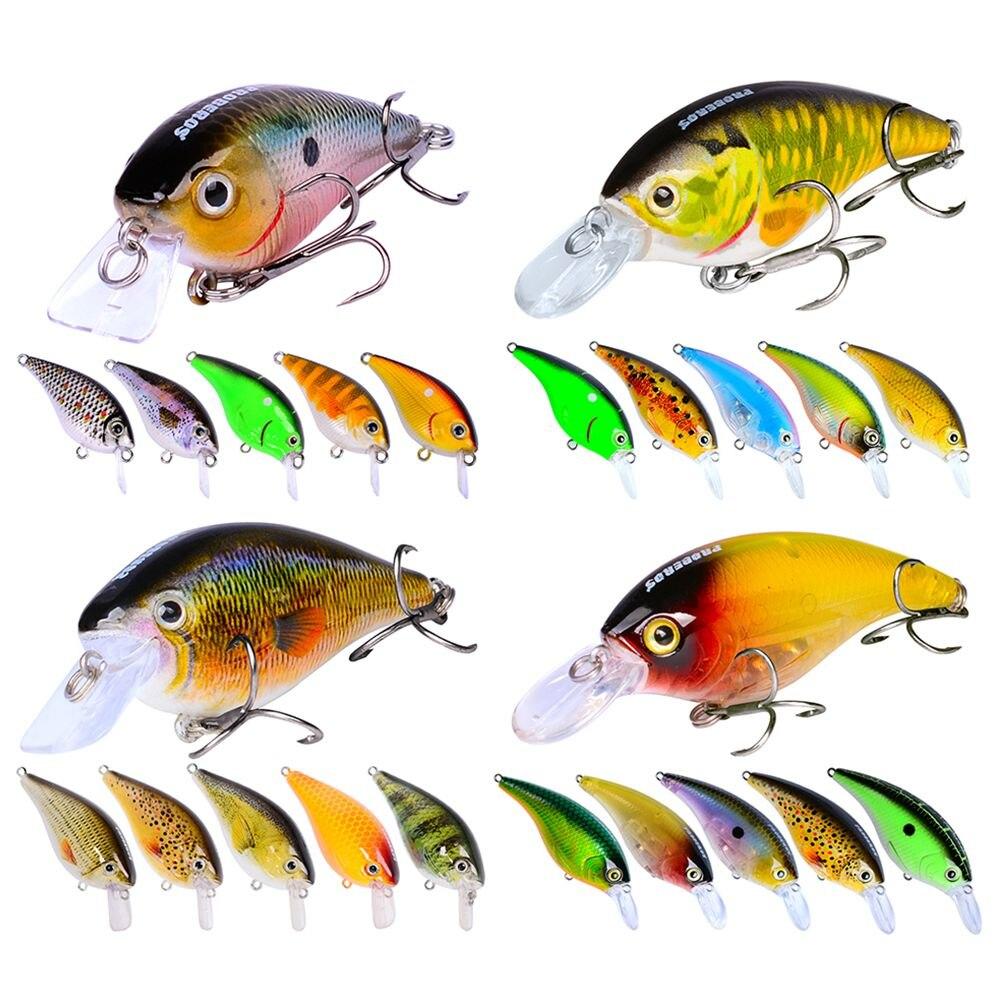 24 pièces Leurre Set Mixte Manivelle Appât Artificiel Faire Basse Leurres De Pêche De Haute Qualité Avec la Boîte Au Détail