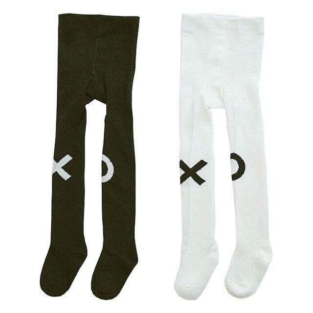 Algodón de punto bebé niños medias pantyhose ins algodón X o patrón ...